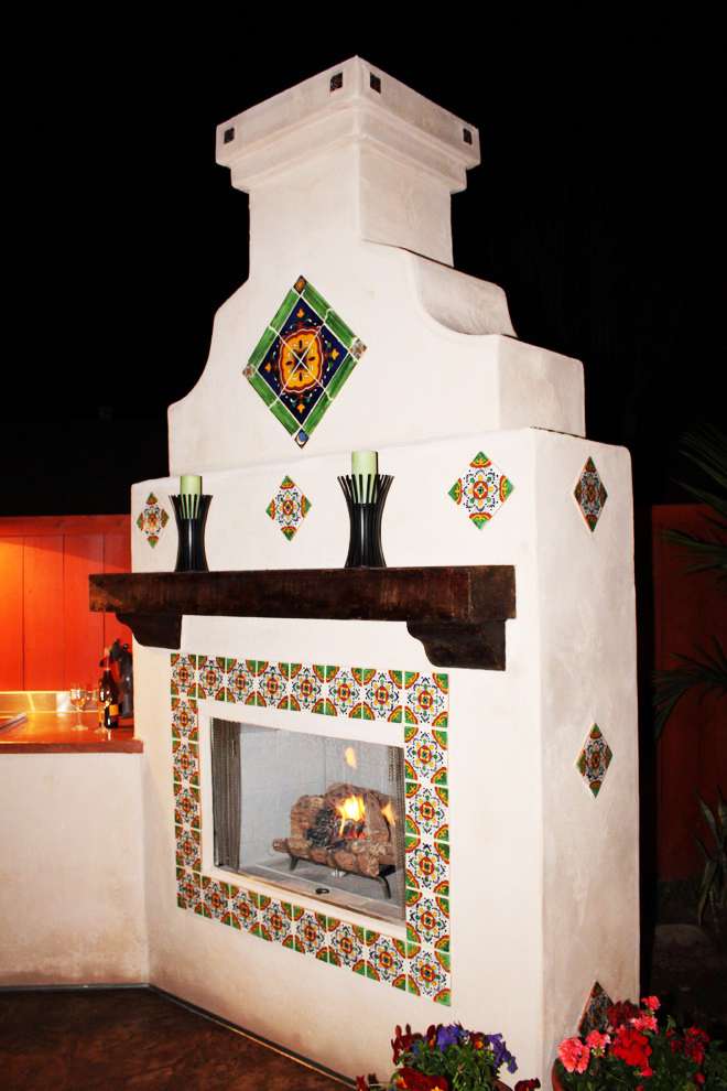 residential outdoor fireplace